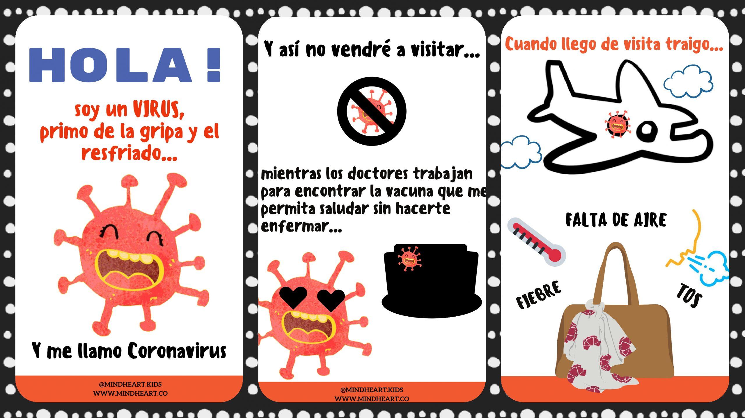 """Libro para niños """"Hola! Soy el Coronavirus"""" - Imagenes Educativas"""