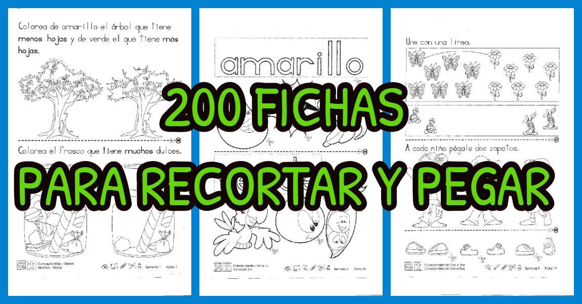 200 Fichas Para Recortar Y Pegar Imagenes Educativas