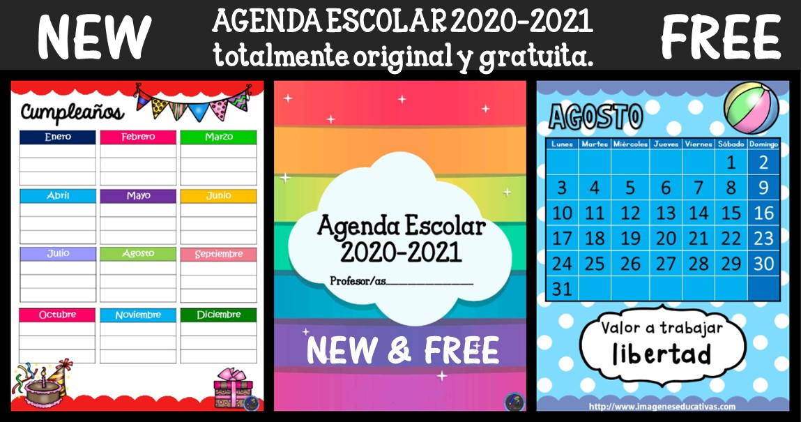 Nueva Y Exclusiva Agenda Escolar 2020 2021 Totalmente Original Y Gratuita Imagenes Educativas