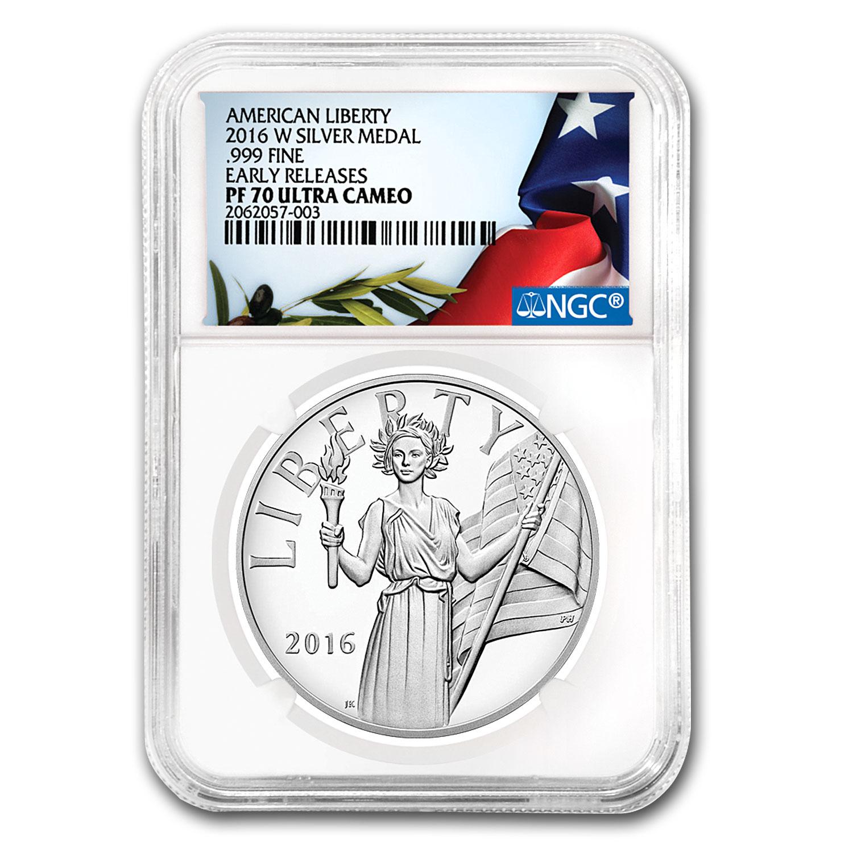 2016-W American Liberty Silver Medal PF-70 NGC (ER) | US ...