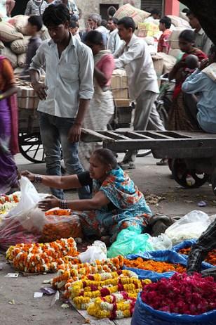 Scène de rue dans la vieille ville (Old Delhi) - Delhi, Inde 2012