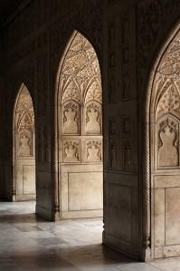 Le Taj Mahal, détail des arcades - Agra, Inde 2012