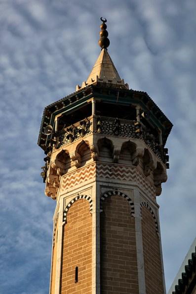 Le minaret de la mosquée Hamada Pacha, Tunis - Tunisie 2012