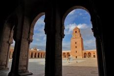 La cour intérieure de la grande mosquée (Sidi Oqba), Kairouan – Tunisie 2012