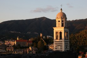 Campanile de la Chiesa Sant Andrea, Levanto, Italie - août 2013