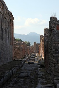 Les rues de Pompéi, Italie - août 2013
