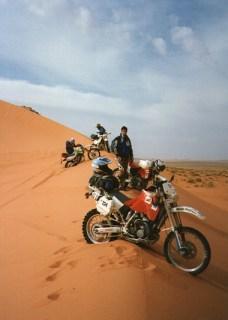 Raid de l'Amitié 1996 - Maroc, Husqvarna 360WR, Dunes de Merzouga.
