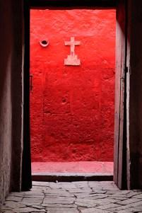 Porte dans le Monasterio Santa Catalina, Arequipa, Pérou - 2014