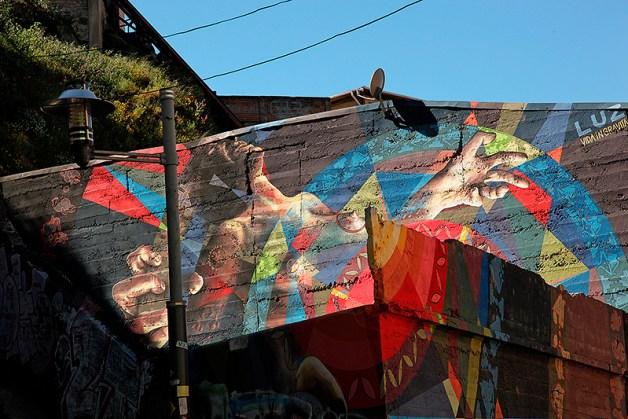 Fresque murale, Valparaiso, Chili - 2014, photo 01