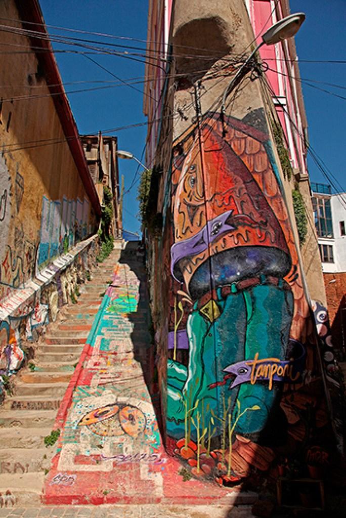 Les escaliers de Valparaiso, Chili - 2014, photo 03