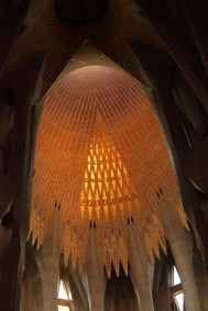 Sagrada Familia, détail de la voute centrale, Barcelone - 2015