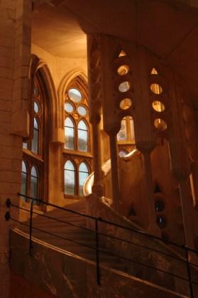 Sagrada Familia, escalier intérieur, Barcelone - 2015