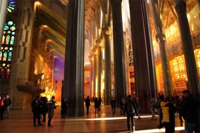 Sagrada Familia, la nef centrale, Barcelone - 2015