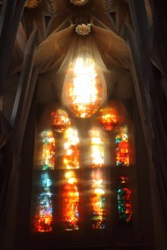 Sagrada Familia, vitrail intérieur, Barcelone - 2015