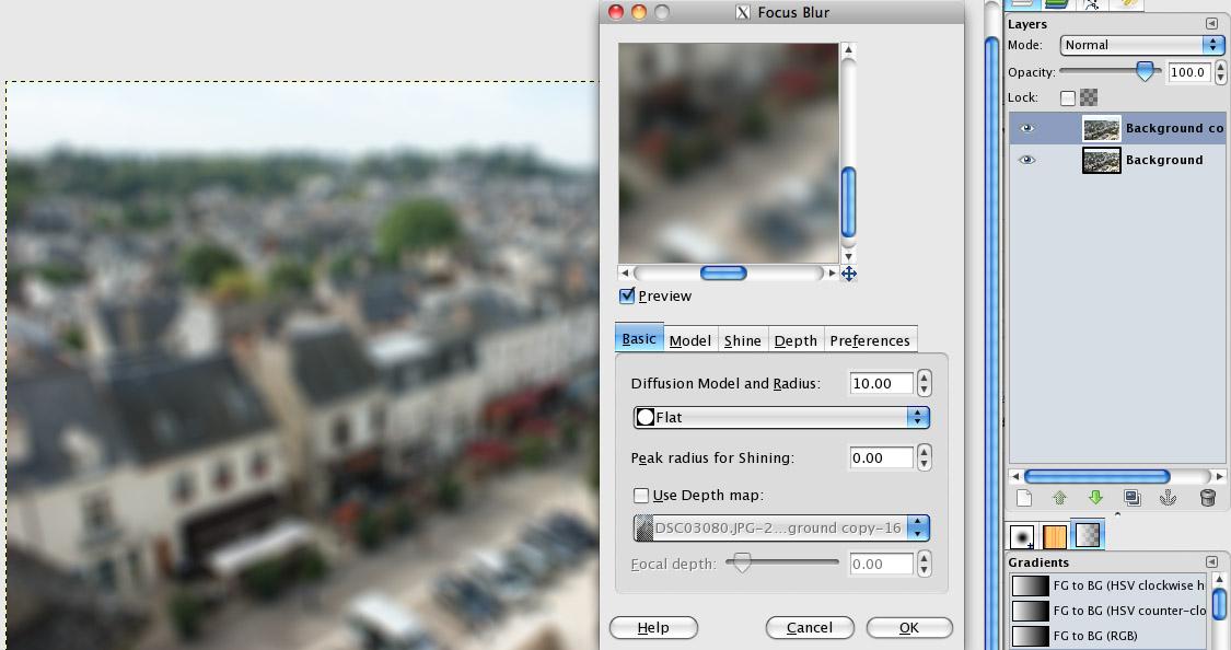 Duplicate Background + Focus Blur