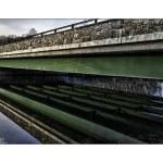 Whippany, river, bridge, lines, abstract