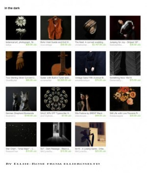 ellieroseltd dark background treasury