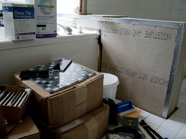 tiles, tools, shower, diy