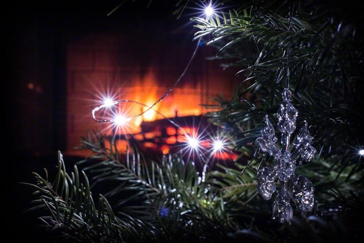 Glass ornaments & LED lights