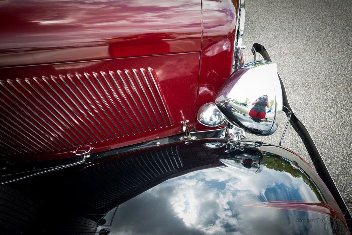 Antique car & reflection