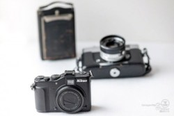 Cameras, old and new