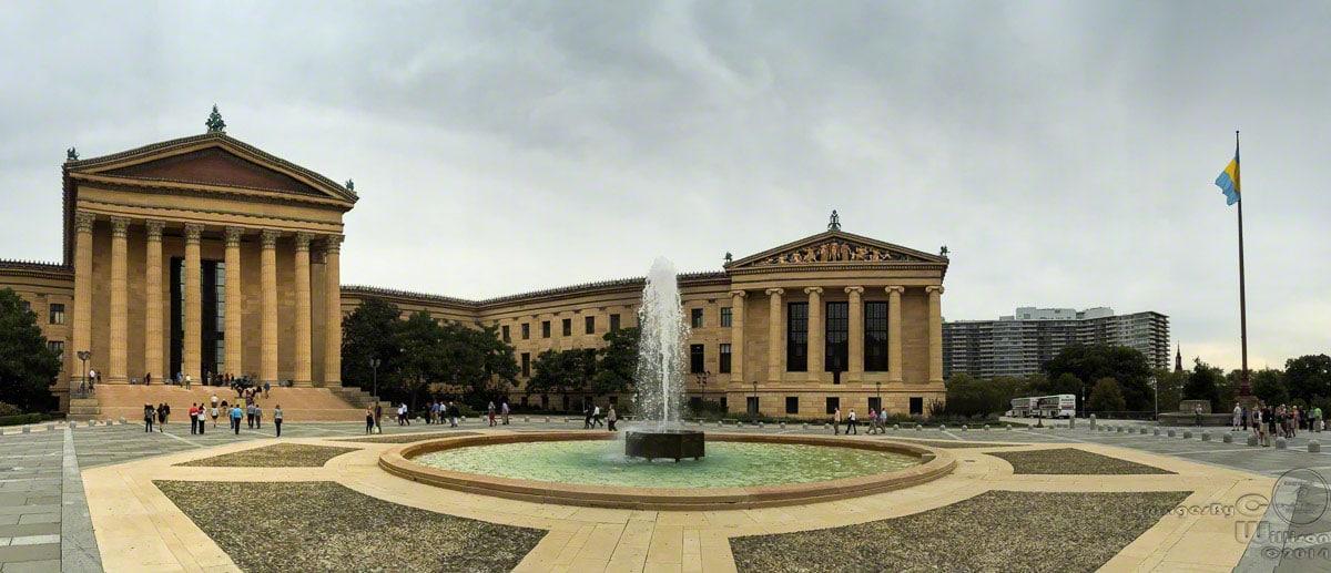 Philadelphia Museum of Art, iphone, panorama
