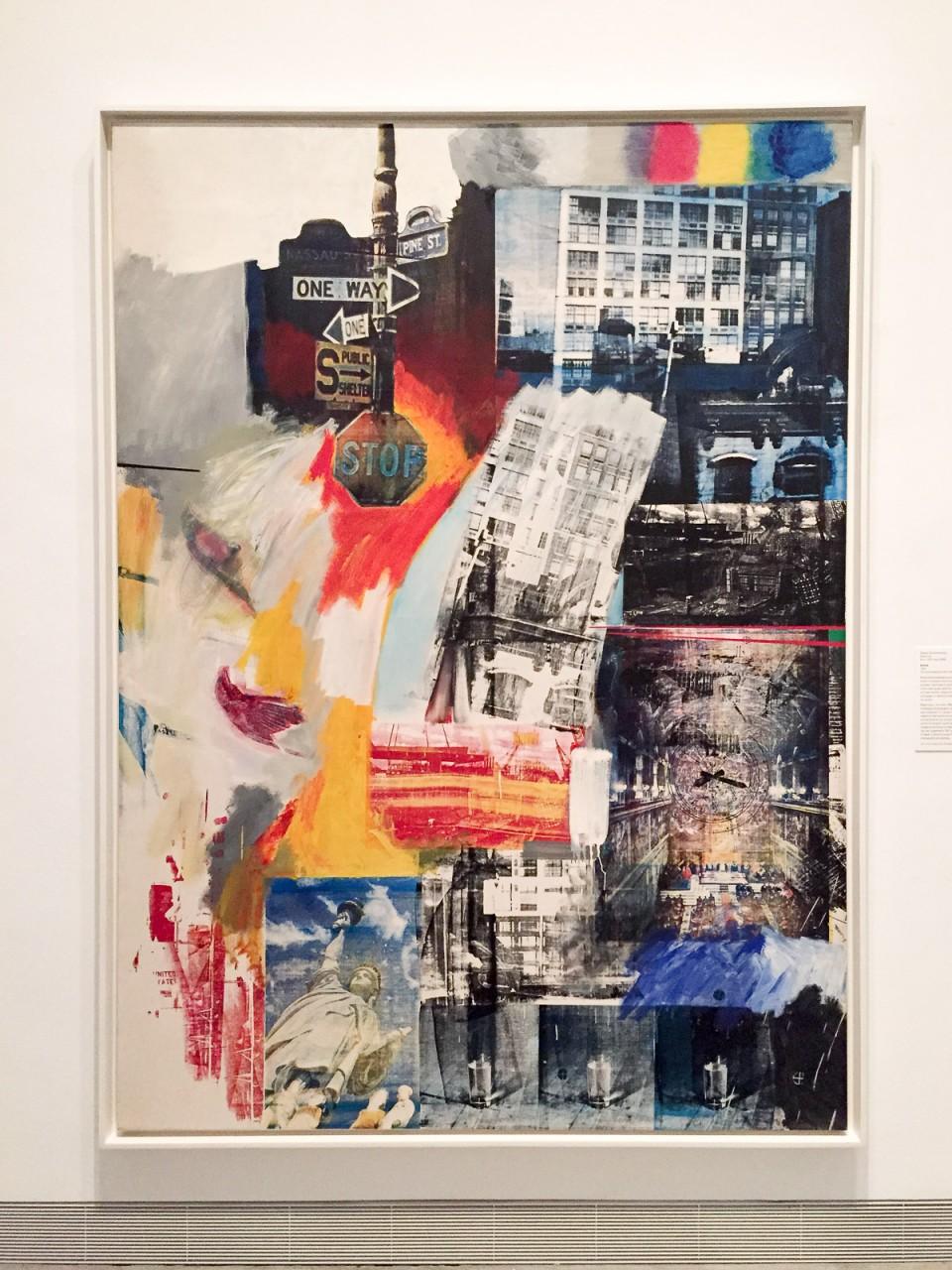 Philadelphia, modern, art, painting, Rauschenberg