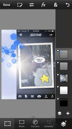 Photoshop Touch editing