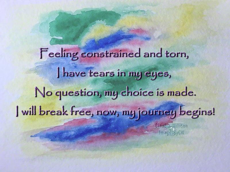 watercolor, break free, typography