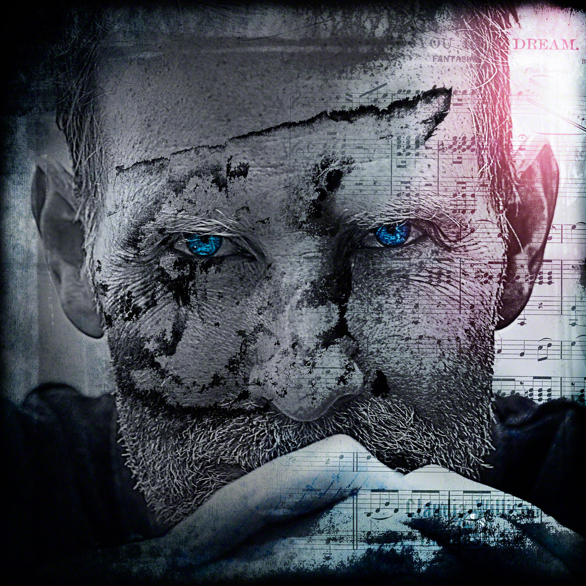 blue eyes, composite, music