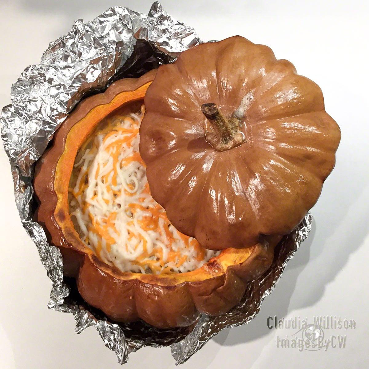 pumpkin, feast, baked