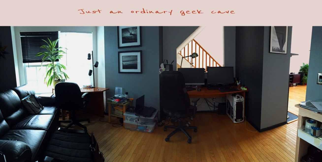 geek, cave, work station