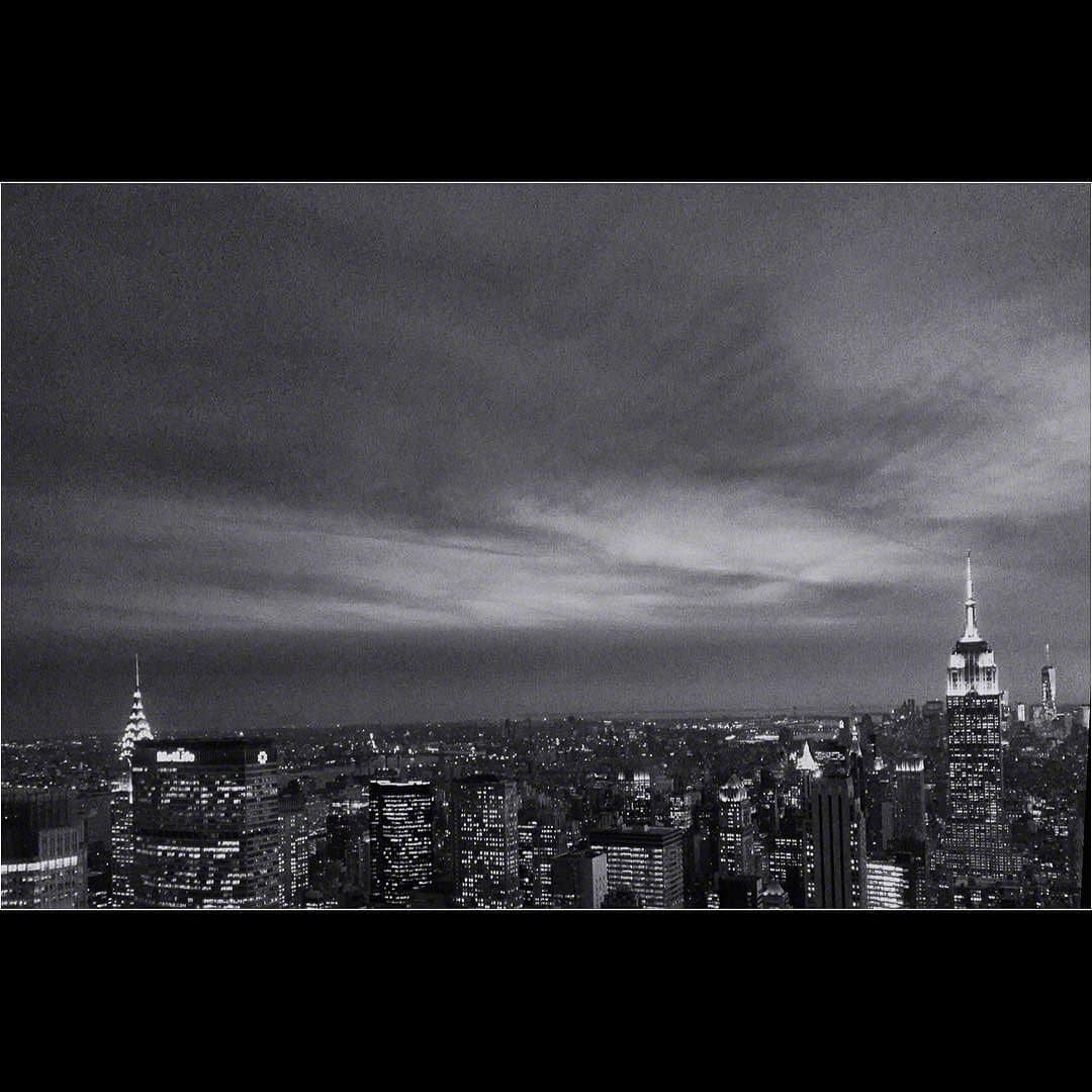 NYC sunset b&w-2