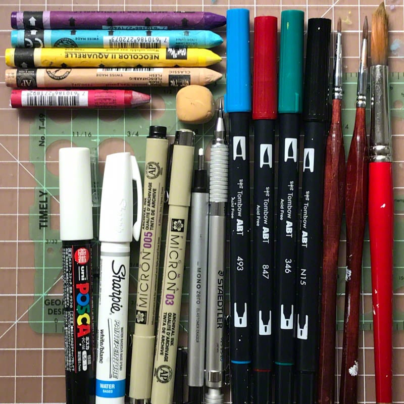 Limited art supplies