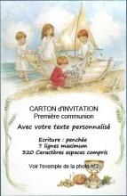 carton d invitation premiere communion
