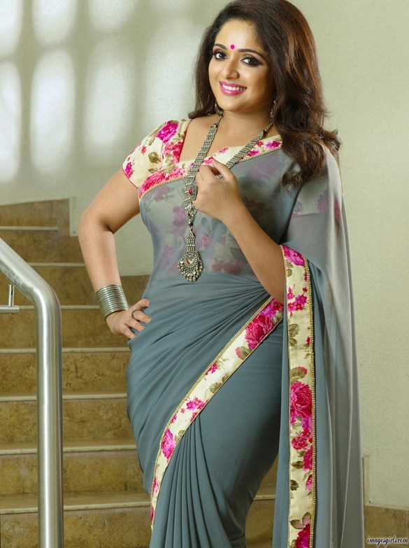 actress kavya madhavan hot images in saree