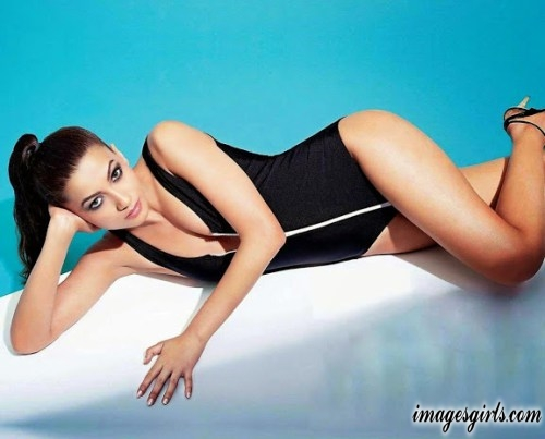 hd wallpapers and photos gauhar khan in swimming dress and doing ponytail hairstyles