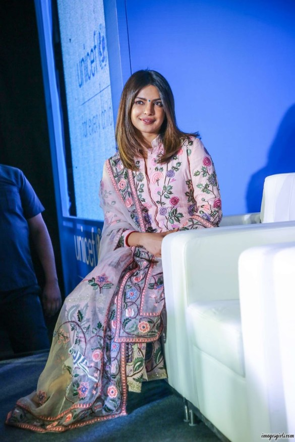 Priyanka Chopra pics At UNICEF India Press Conference in New Delhi