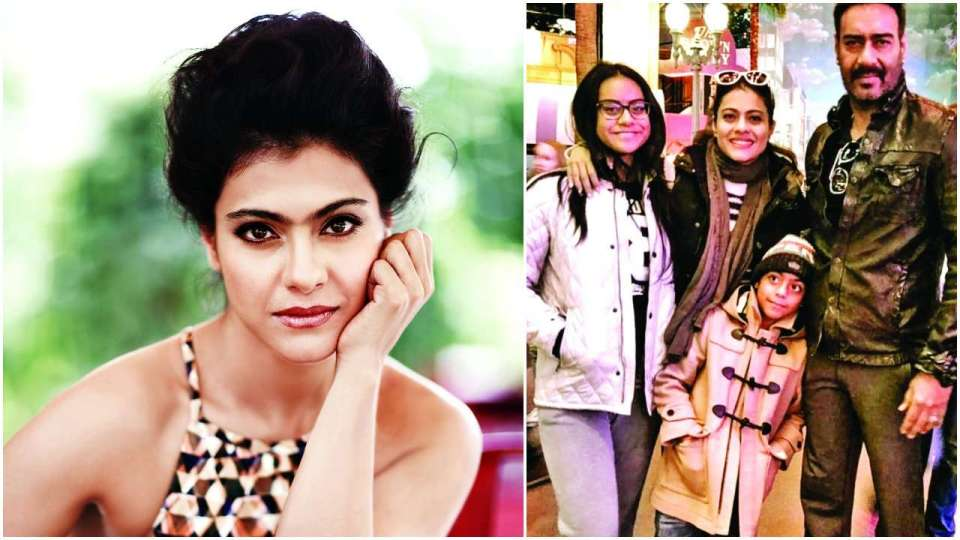 Kajol Kajol (right) The actress with her husband Ajay Devgn and kids — Nysa and Yug