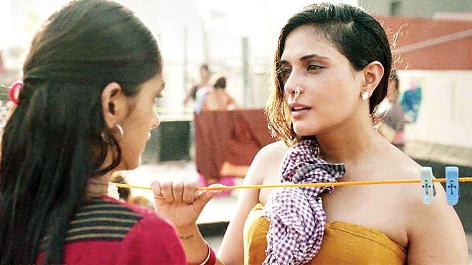 Mrunal Thakur and Richa Chadha in a still from Love Sonia