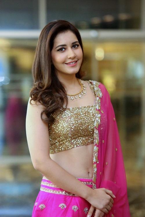 Raashi Khanna Hot Photo In Pink Ghagra Choli