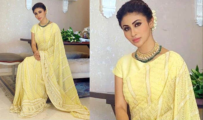 Mouni Roy's Lime-Yellow Saree is Breath of Fresh Air Among so Many OTT Festive Looks This Diwali
