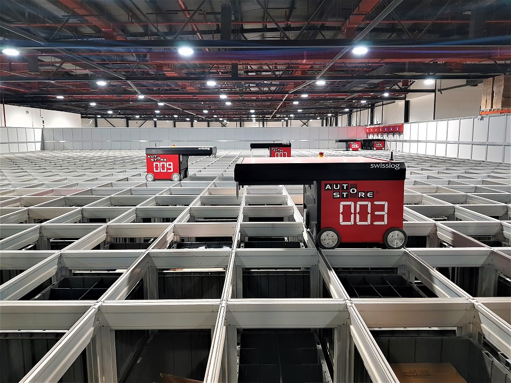 Swisslog delivers robot-based warehouse system for Axiom