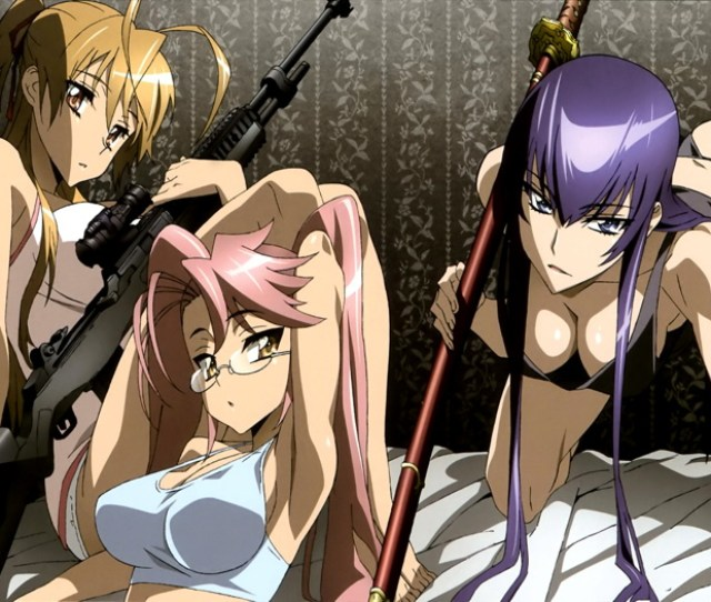 Image Is Loading D8021 Highschool Of The Dead Hot Sexy Girls