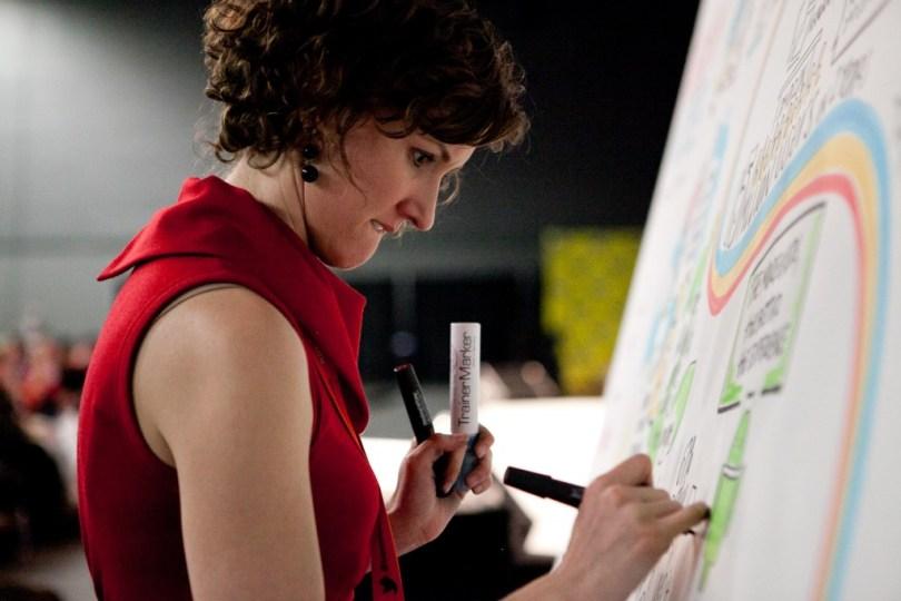 Nora Herting of ImageThink Graphic Recorders at SXSW 2012