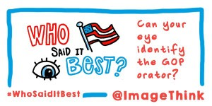 ImageThink GOP debate 2016 twitter graphic recording infographic