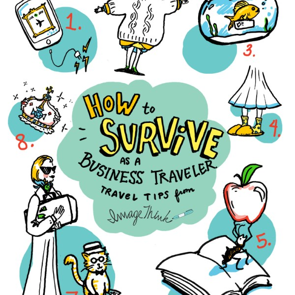ImageThink illustrates eight tips for frequent travelers ranging from wearing layers to charging your electronics.