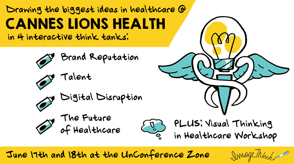 ImageThink is leading think tanks and workshops in visual thinking at Cannes Lions Health 2017