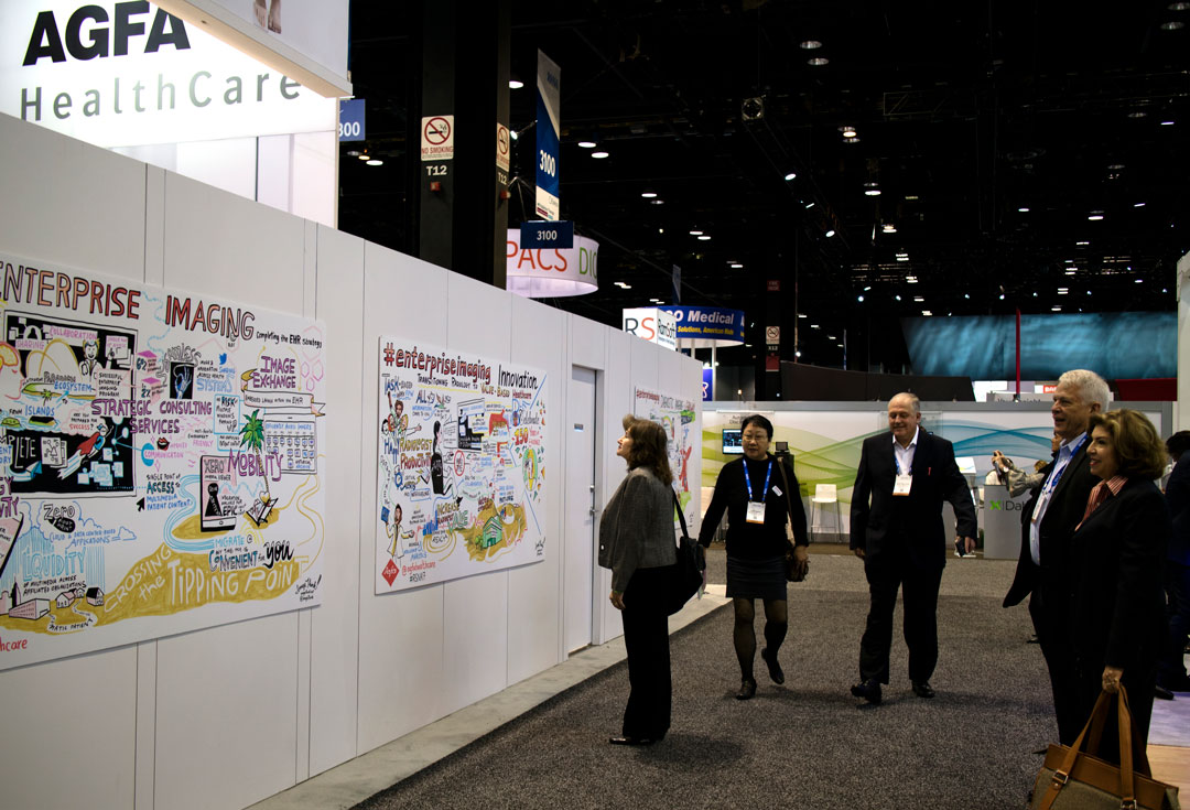 Graphic recording becomes a conversation starter at tradeshows.