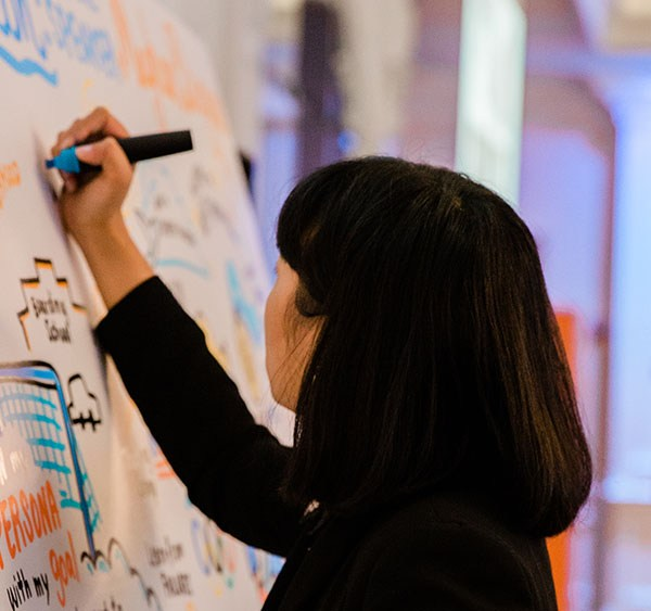 ImageThink graphic recorder Lilly Lam captures a session.